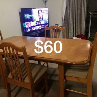 Teak Dinning Table And Chairs