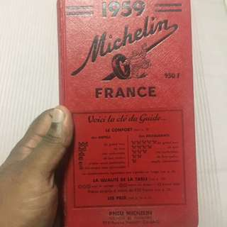 1959 Michelin Guide (French) / Guide Michelin Rouge