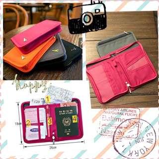 韓版多功能旅行收納護照包