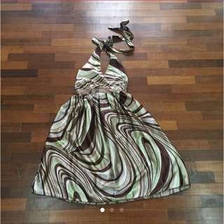 V Neck Halter Dress