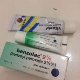 vitacid 0,25% dan benzolac 0,25%