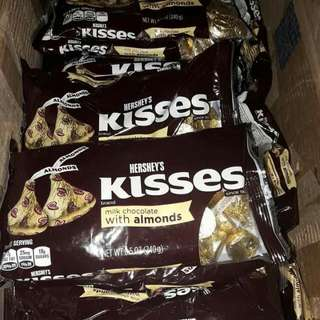 Hersheys Kisses Milk Chocolate With Almonds