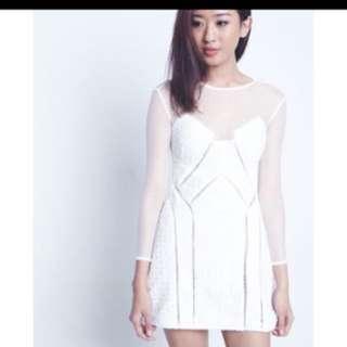 Luxe Heather Eyelet Mesh Dress