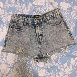 VII&CO 鐵灰牛仔短褲