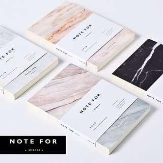 [RESTOCKED] Marble Blank Notebook