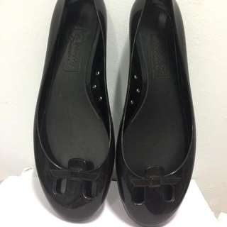 Butterfly Dream - Black Jelly Flat Shoes