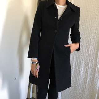 Dark grey wool winter coat