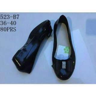 Sepatu Kantor Cewek / Jelly Shoes Pita / Flatshoes Wanita