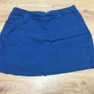 全新 寶藍色短裙