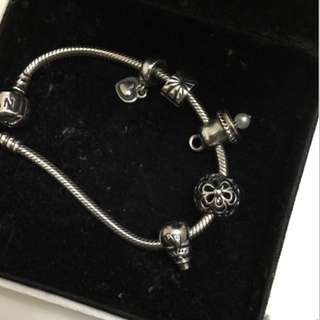 Preloved AUTHENTIC Pandora Charm And Bracelet