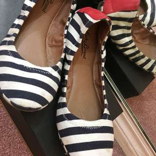 Lucky Brand Striped Ballet Flats