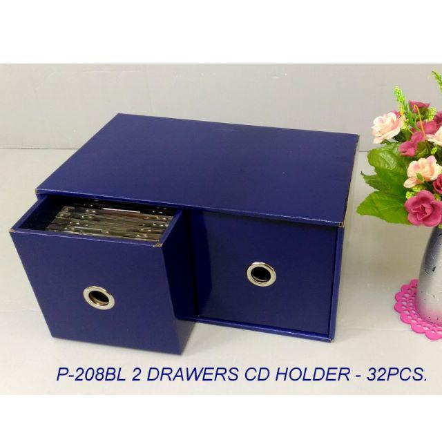 2 DRAWERS CD BOX ( FOR 32PCS CD)