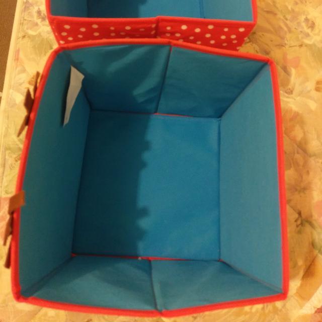2 Storage Cubes Boxes