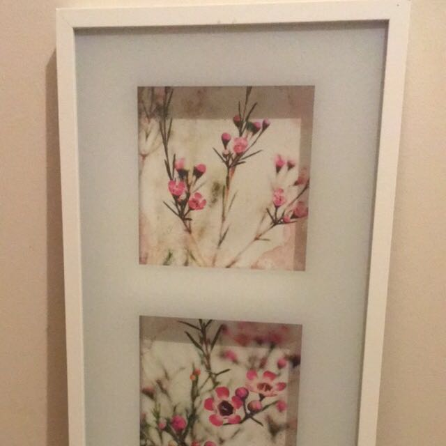 3-Frame Floral Picture