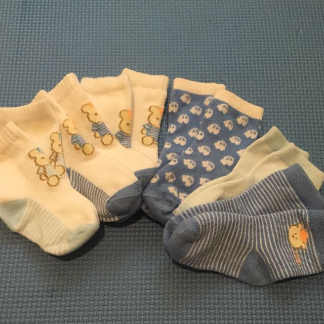 6 Pairs Socks For 0-6mos