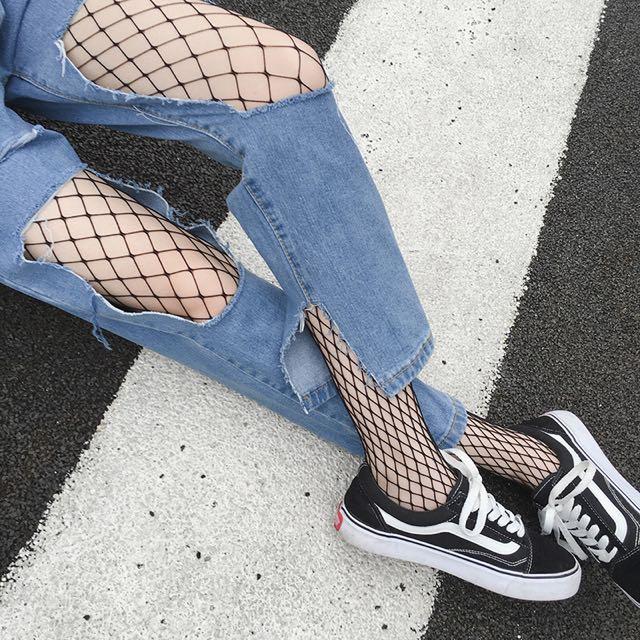 個性中格網襪