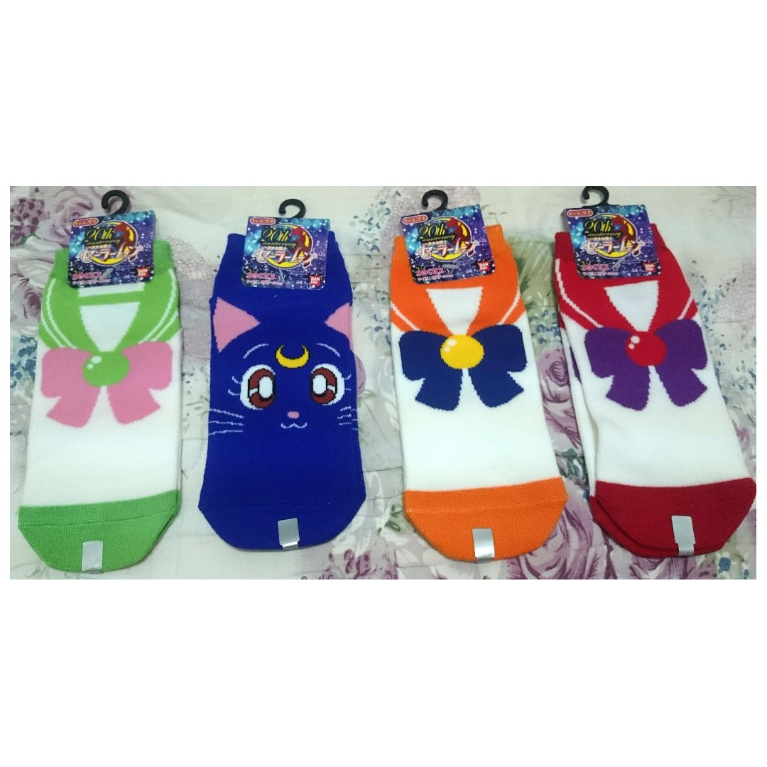 美少女戰士 Sailor moon 腳襪 船型襪 土星 金星 木星 水手服造型 露娜 貓咪 全新 日本原裝 金標