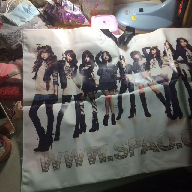 少女時代 SM 購物袋 全新 塑膠材質
