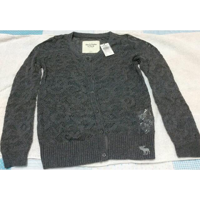 Abercrombie&fitch A&F 女生 蕾絲 針織 羊毛 毛衣 外套 罩衫