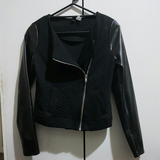 Black Side Zip Blouse
