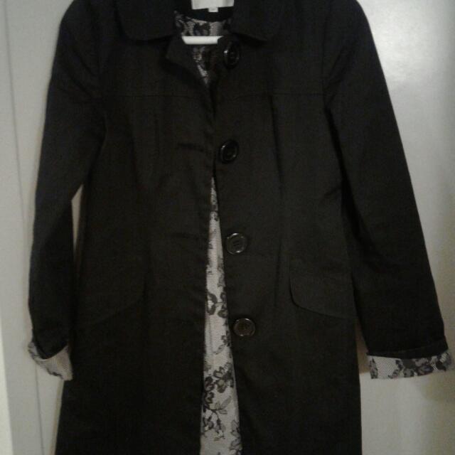 Black Trend Coat Size S