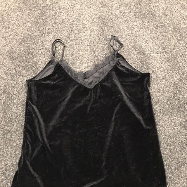 Black Velvet Lace Camisole