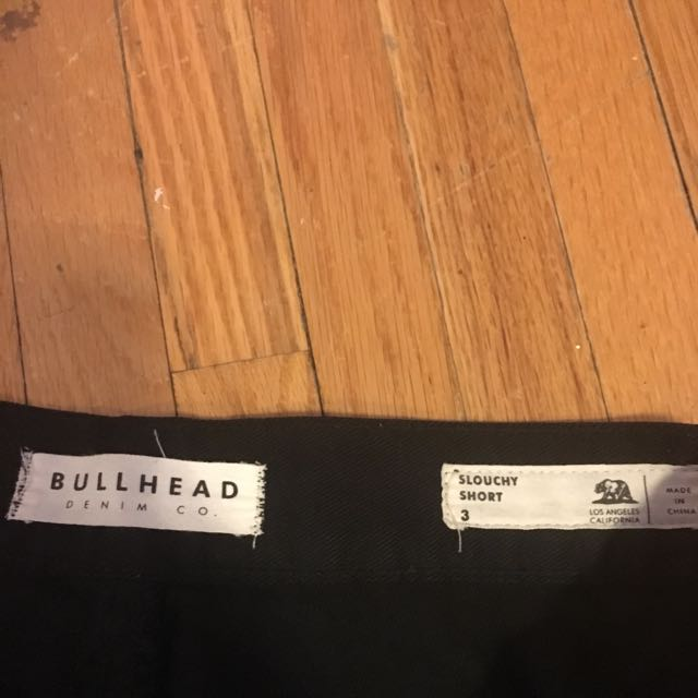 Bullhead- Black Ripped Denim Shorts