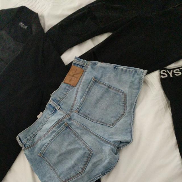 Calvin Klein Denim Shorts Size 8-10