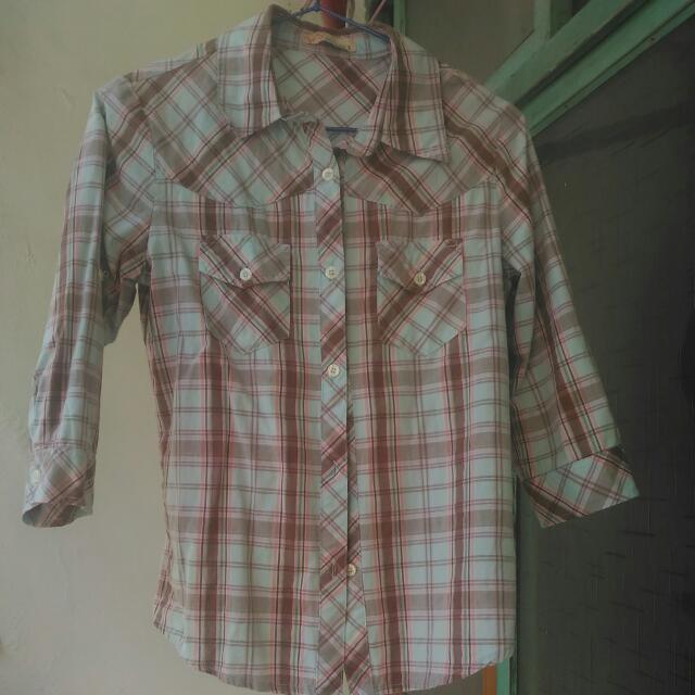 Edwin七分袖春天色系襯衫