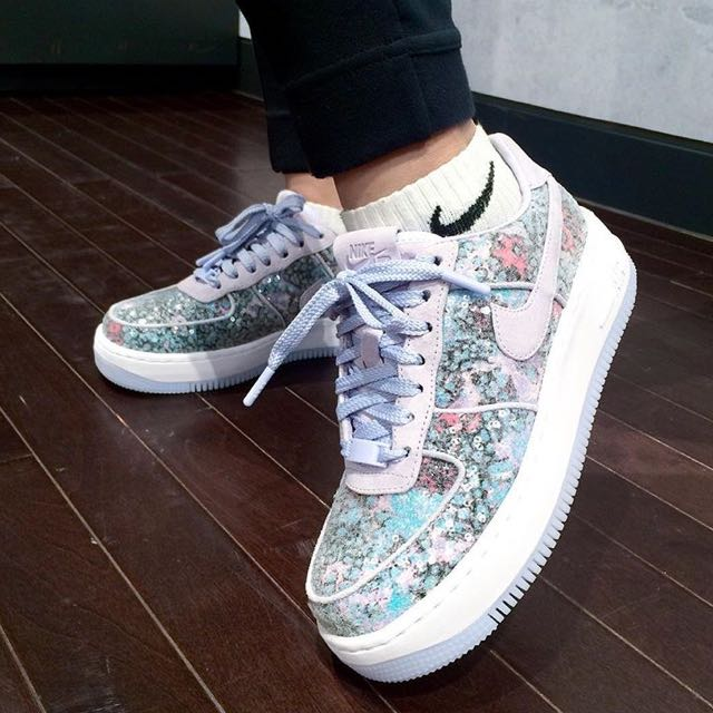 official photos 50cc1 d9a3c EXCLUSIVE Nike Air Force 1 Upstep 35 Glass Slippers, Bulleti