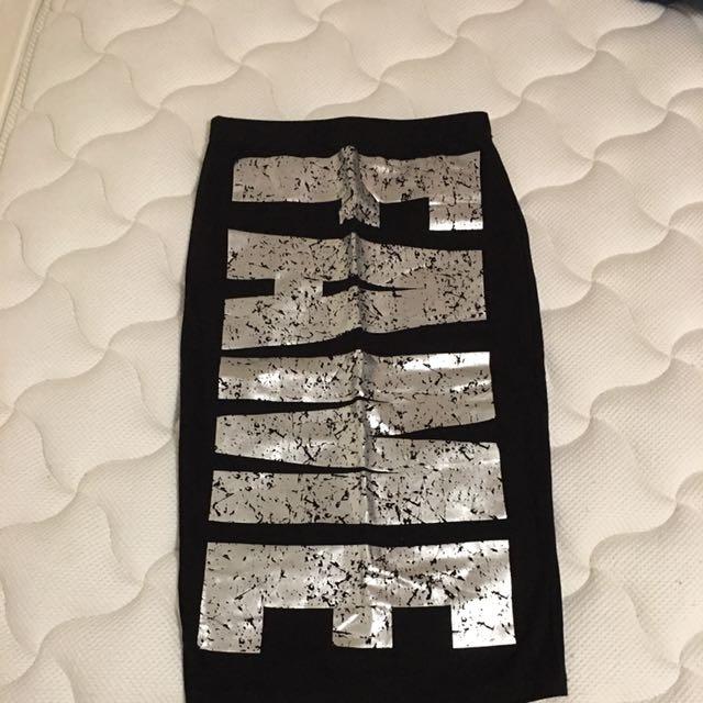 Fame Print Skirt