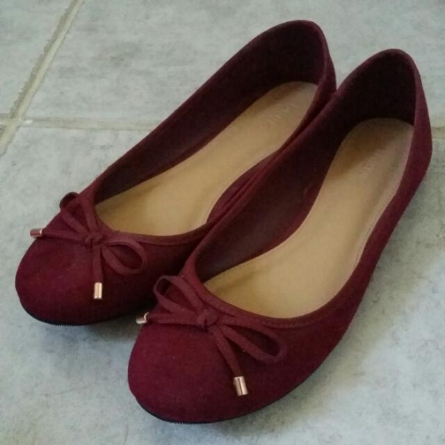 Forever21 Maroon Flats