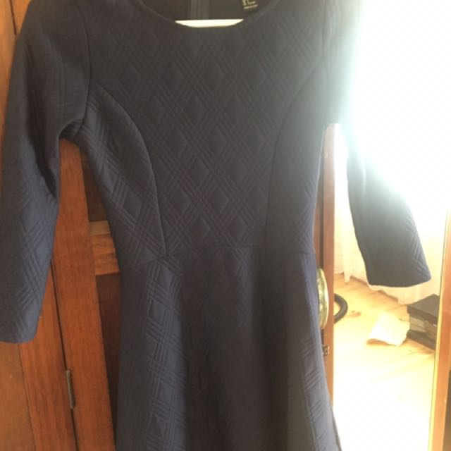Forever 21 Navy Quilted Dress
