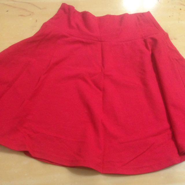 Forever 21 Red Skirt