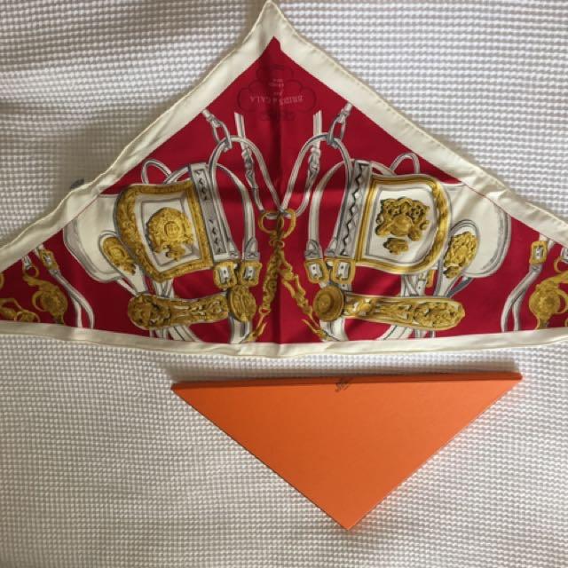 Genuine Hermes Triangle Scarf Used