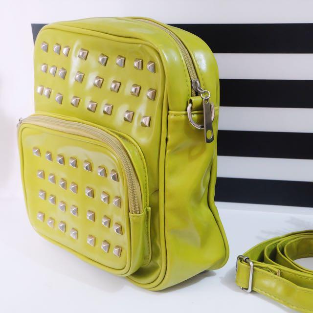 Greeny Studded Bag