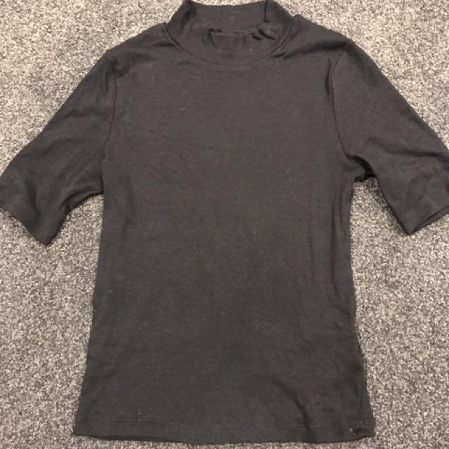 Half Sleeve Black Top