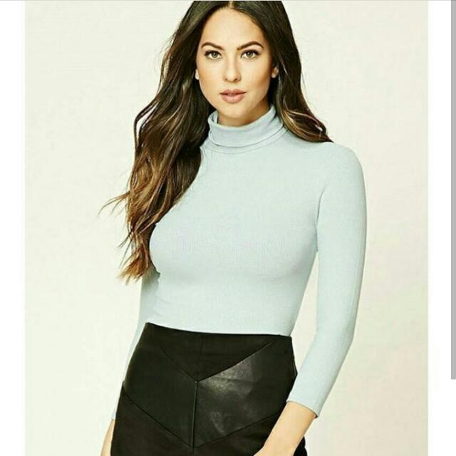 Forever 21 High Neck Knit Top