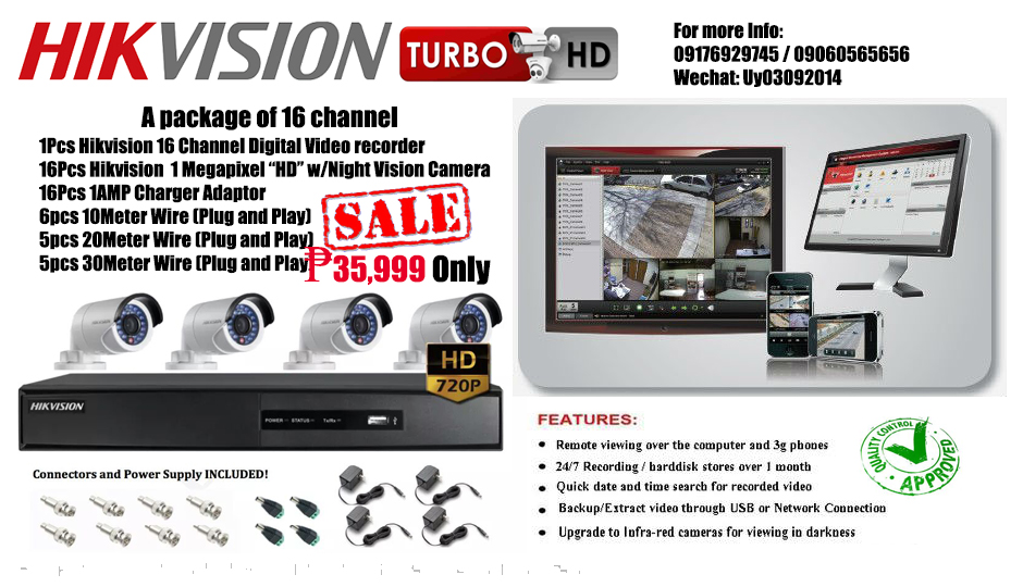 Hikvision CCTV 16 Channel Package on Carousell
