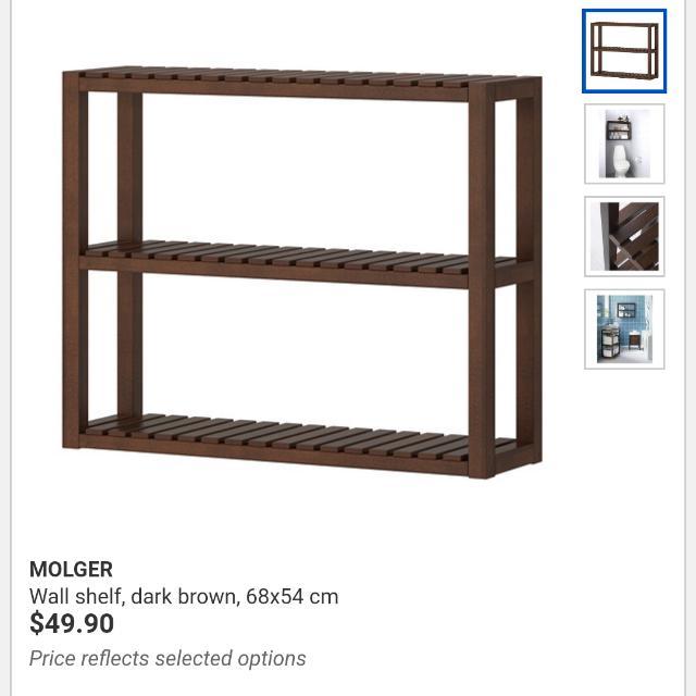 best website e90ce 7bcc9 Ikea Molger Bathroom Wall Shelf, Furniture, Home Decor on ...