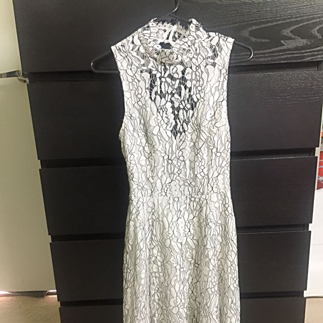 Keepsake The Label White Lace Dress Size S