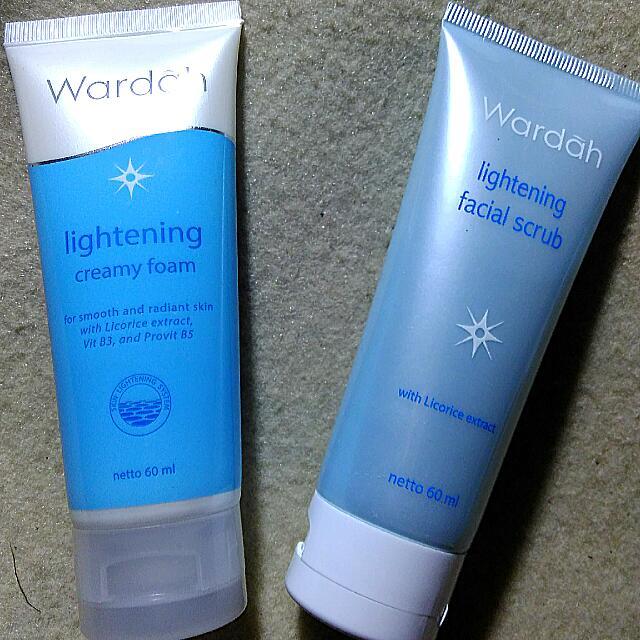 Lightening facial scrub & lightening creamy foam