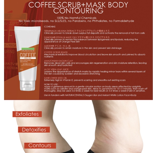 Naturacentials Coffee Scrub + Mask Body Contouring