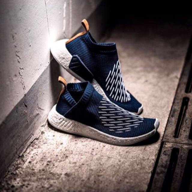 06525e4c7681  NEW  Adidas NMD CS2 PK Ronin Pack In Navy   White Stripes With Nude Heel  Tab