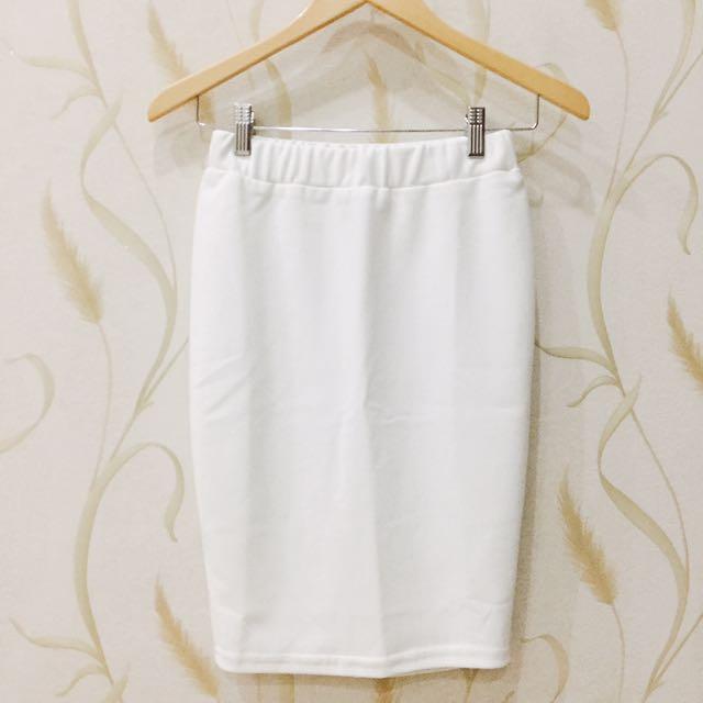 NEW Pencil Skirt White