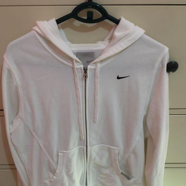 Nike古著白色運動連帽外套