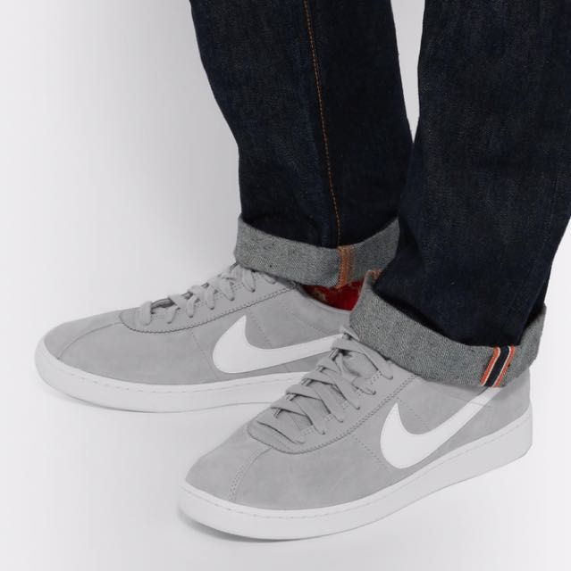 nike Bruin Leather-Trimmed Nubuck Sneakers