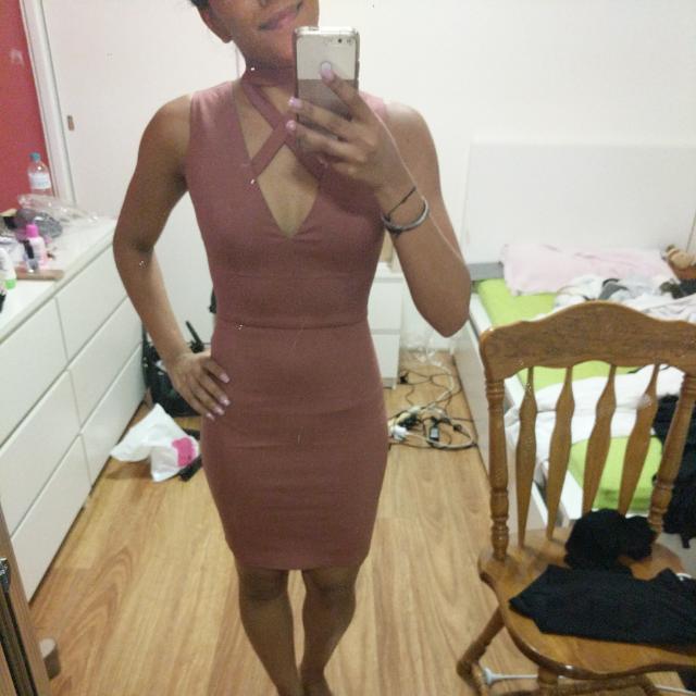 BNWT Pink Choker Dress Size 6