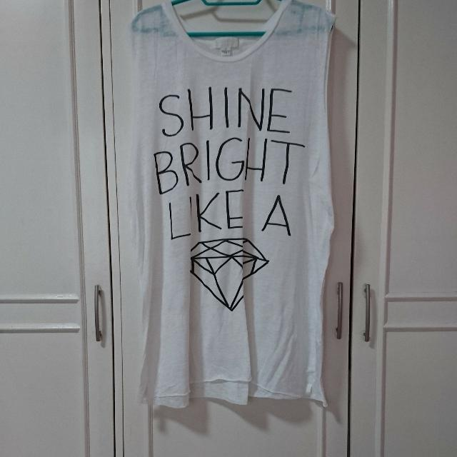 Plus Size Forever 21 Shine Bright Like A ♦ Muscle Tee