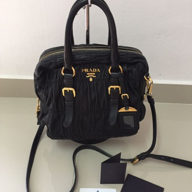 21f03af87ad3 Prada Nappa Gaufre Lambskin, Luxury, Bags & Wallets on Carousell